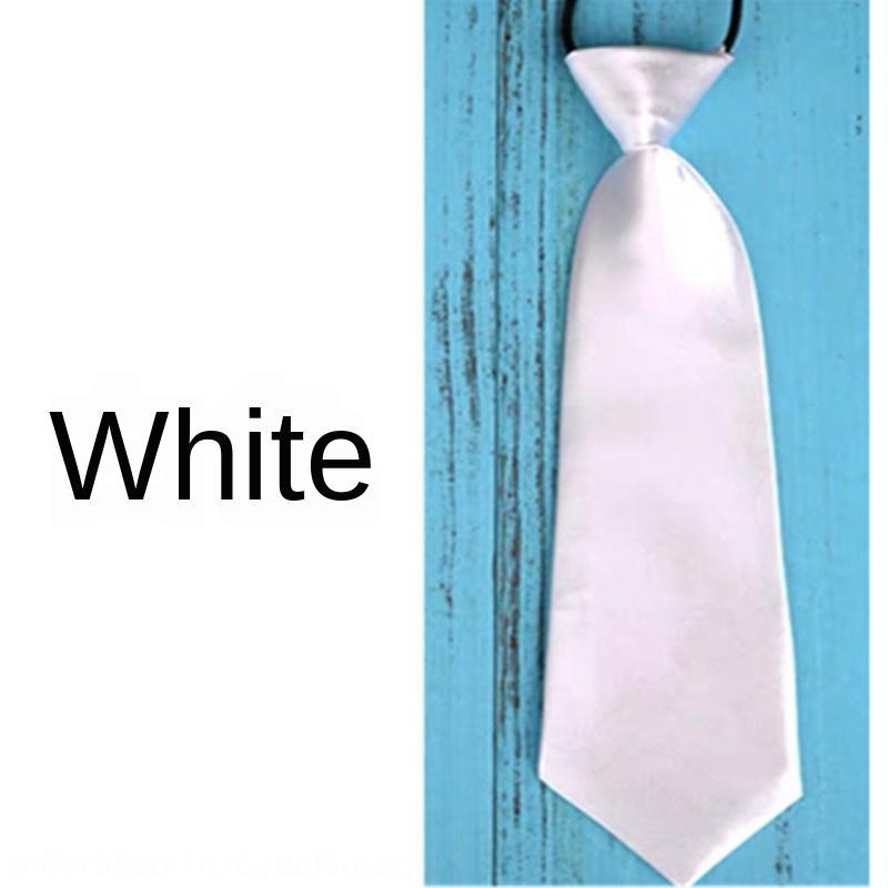 Satin boys' convenient rubber plain band Accessories rubber band tie tie polyester accessories czcl9