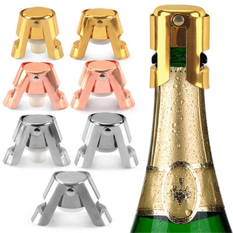 Estilo creativo de la botella de acero inoxidable tapón de silicona Vino de Champagne tapones de vino Boca fácil de usar