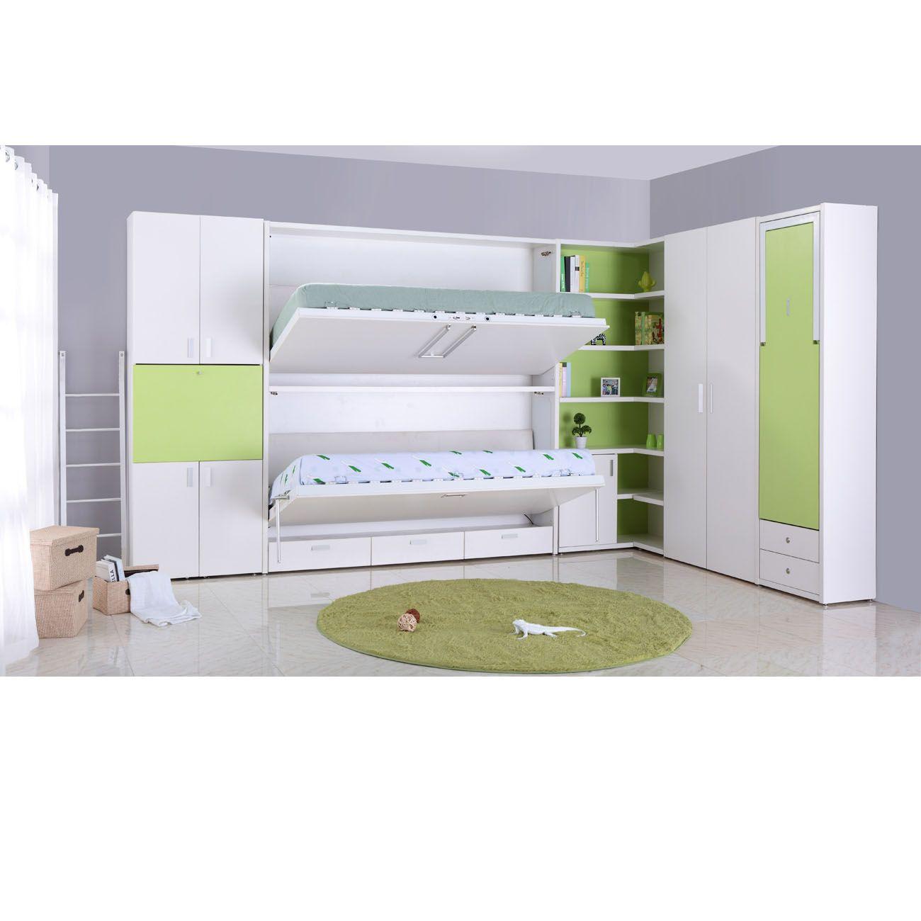 TB0930 personnalisé lit mur caché double decker multifonction pliage lit superposé Mobilier moderne Murphy lit avec canapé