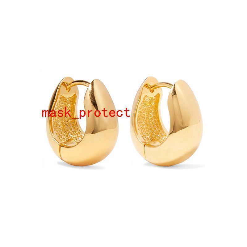 Металлического ветер крюк уха медь гальваническим реального золото кнопки ногтей стиль дама серьги двухцветный опциональные уличные битник серьга