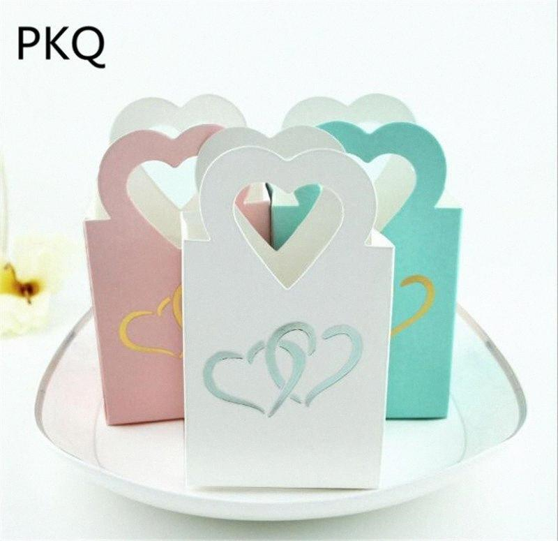 100Pcs Creative Wedding Box Small Jewelry Packaging Gift Bag Christmas Party Favor Bag Paper Present Bags 6x3.8x10.5cm Vyu8#