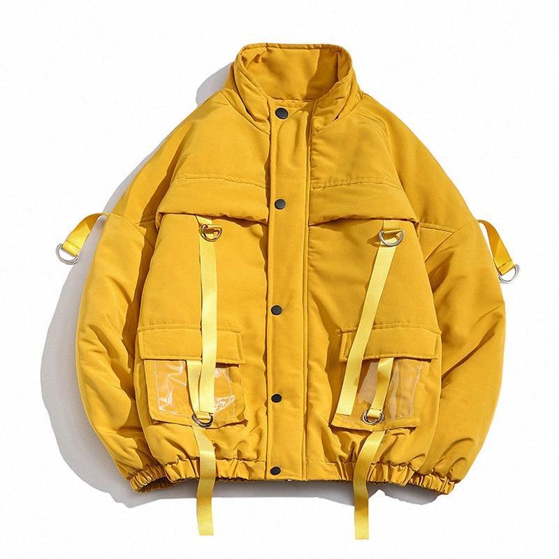 Veste d'hiver Hommes 2019 Nouveau Parka Manteau Hommes surdimensionnées Rubans poches Veste Homme Casual Parcs Big Taille Streetwear M-5XL 2IY3 #