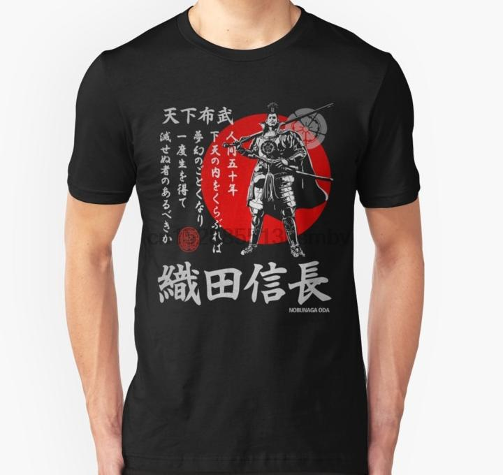 Les hommes tshirt Nobunaga TENKA FUBU unisexe T-shirt des T shirt haut