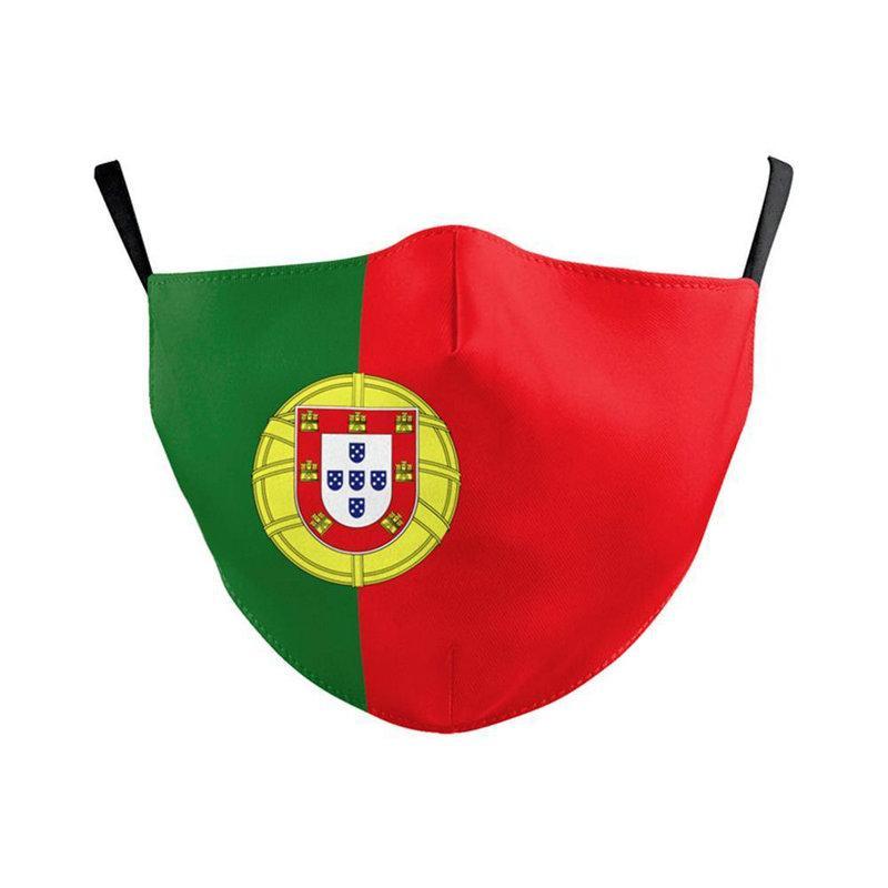 Maschera PM25 riutilizzabile Maschera prova lavabile Forza Italia Spagna Bandiera Stampa continuare a combattere Maschere Tessuto adulti protettivo Facemask RdWpY