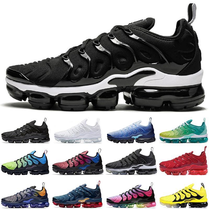 Nike air vapormax koşu ayakkabıları Klasik tn artı neon erkekler kadınlar üçlü siyah gerçek günbatımı gökkuşağı atletik erkek olmak eğitmenler spor ayakkabısı rayları womens