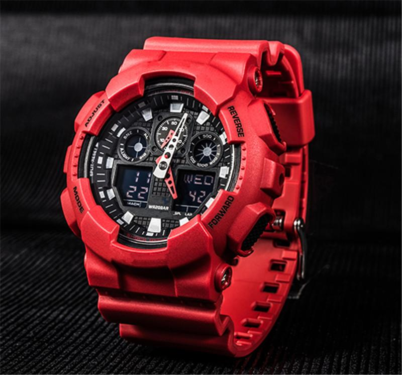 Bester Verkauf 100 Uhren Auto-Licht Alle Funktionen arbeiten Military Wasserdicht Mans-Uhr 14 Farben Wholesale G-Art-Shock Uhr Dropship
