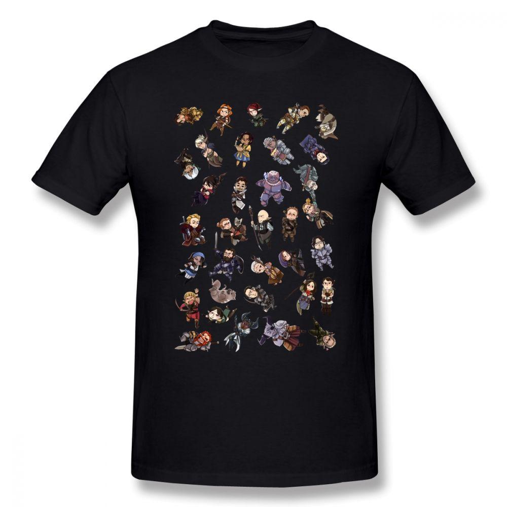 Dragon Age T-shirt Parti Membres T-shirt homme drôle T-shirt de plage 100% coton imprimé manches courtes T-shirt