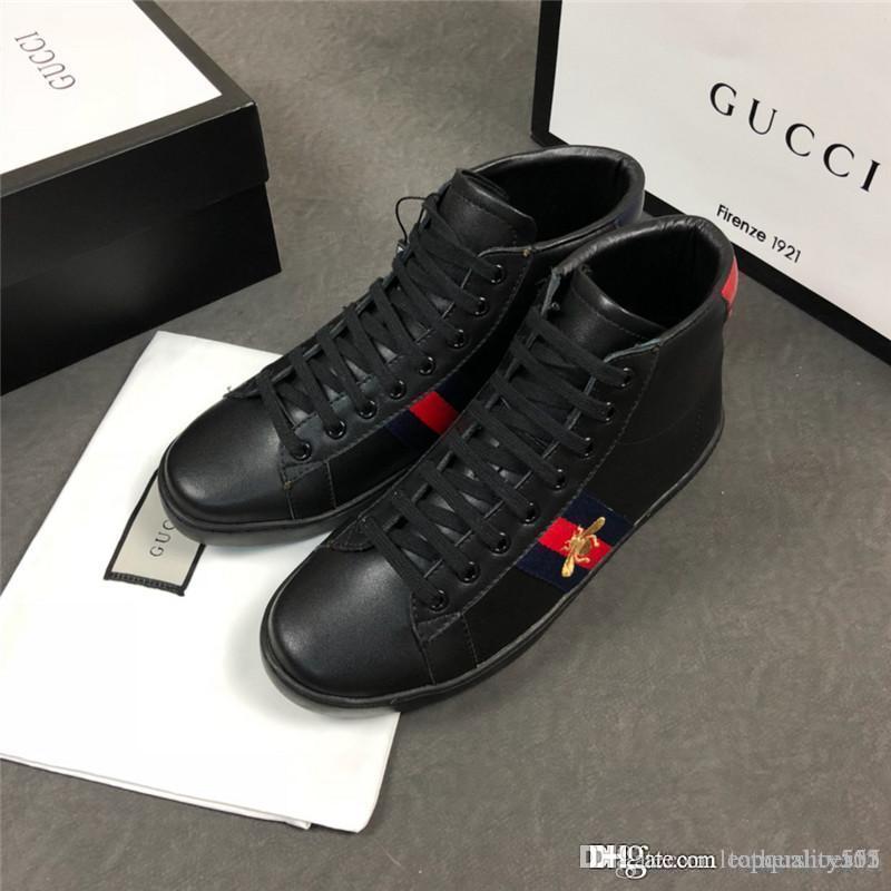 louis vuitton LV gucci Ayakkabı Koşu 2020 tasarımcı markası en kaliteli lüks erkekler Şık günlük Resmi giysiler deri Yürüyüş Sneaker spor ayakkabı Box A308 var