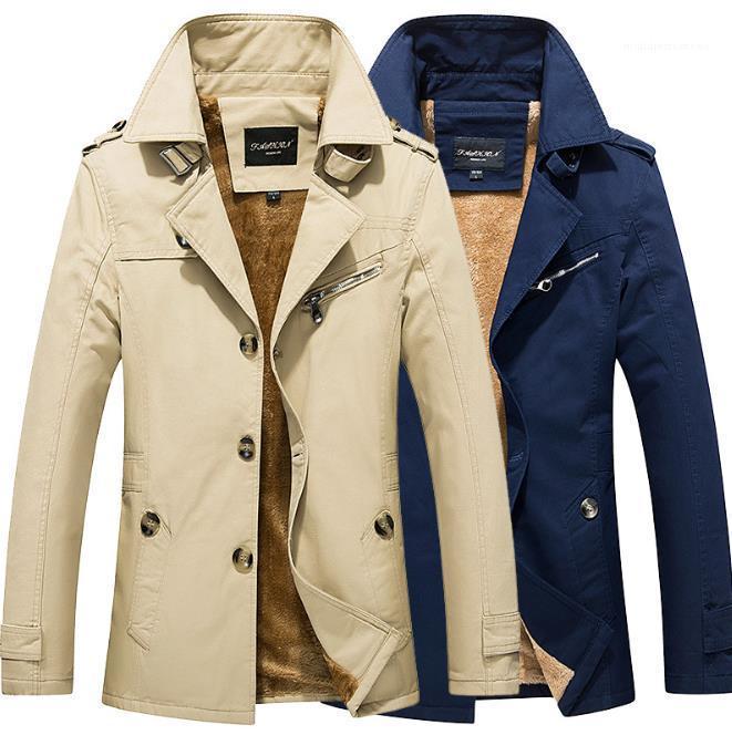 Подставка Кнопка Воротник Fly куртки Плюс Размер пальто Мужской одежды Mens конструктора вскользь куртки осень зима