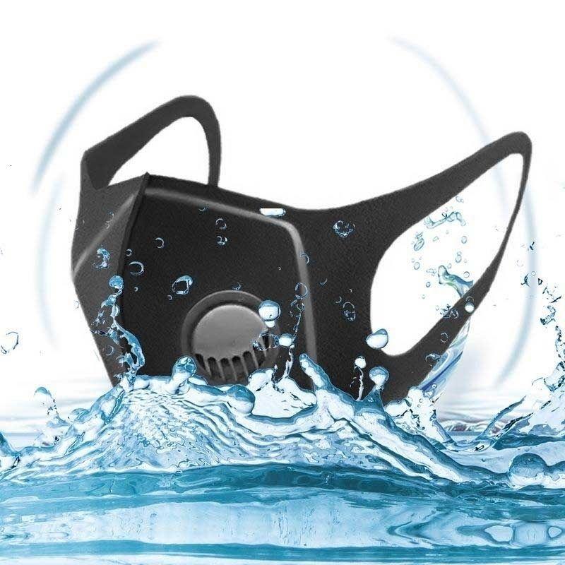 Respirant gratuite DHL unisexe bateau! Noir poussière éponge pour le visage Masque réutilisable anti pollution FaShield vent Preuve bouche er D1151 4P6J