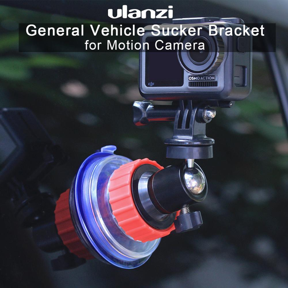 Ulanzi U-50 Action Camera Suction Holder Mount for Dji Osmo Action Gopro Eken Sucker Holder Car Holder Mount Glass Suction Cup T200620
