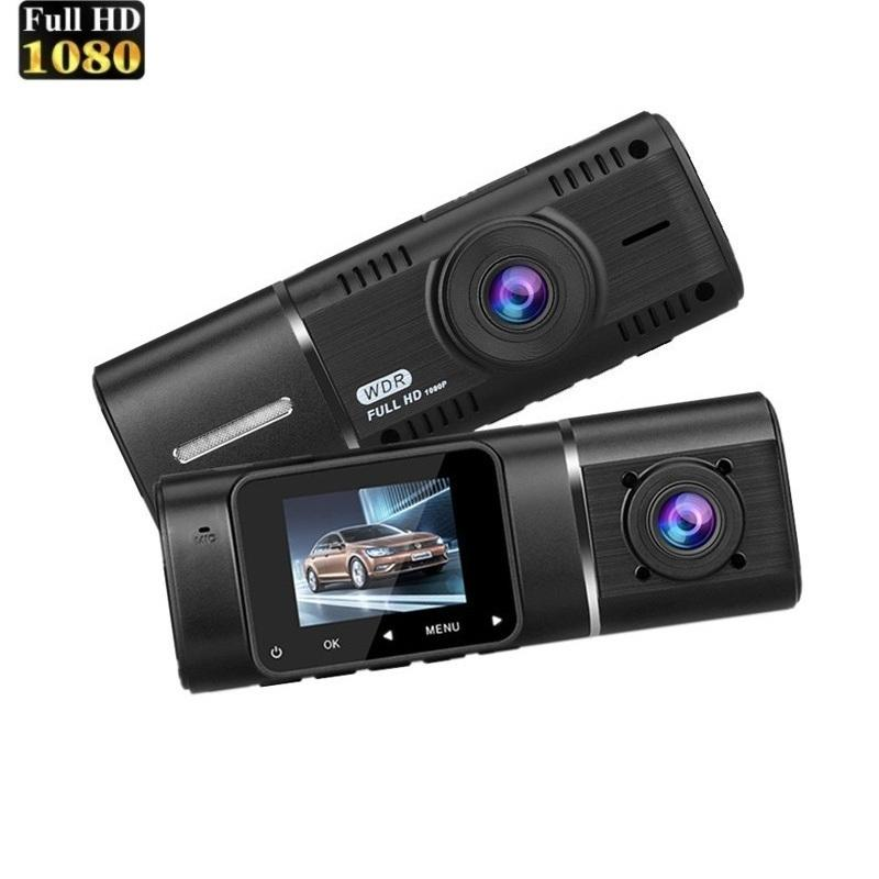 Dash Cam-Auto-DVR HD 1080P + 720p Dash Board-Doppelobjektiv-Träger-Kamera-Videogerät 170 Grad-Camcorder dashcam Night Vision