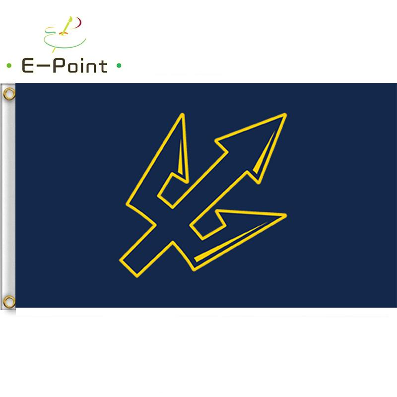 NCAA UC San Diego Bandera Tritones 3 pies * 5 pies (90 cm 150 cm *) Decoración indicador de la bandera volando jardín de su casa al aire libre