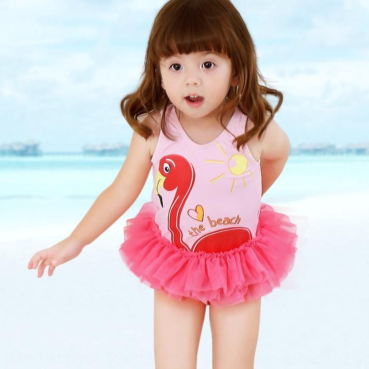 17 maillot de bain et été nouveau style coréen filles dessin animé flamant une pièce Maillot de bain Pengpeng trésor fil ressort q0ksp des femmes des enfants