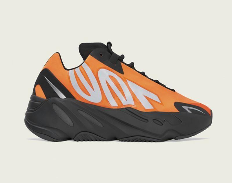 Best MNVN 700 Wave Runner 700 Reflective Kanye West Orange Green Triple Black 3M Material Men Women Running Shoes Sport Sneakers Size 5-12