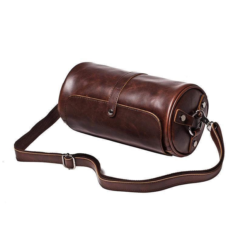 الرجال حقائب حقيبة الكتف الصغيرة شكل أسطواني الرجال رسول حقيبة crossbody الترفيه حقيبة العلامة التجارية حار بيع حزمة رحلة قصيرة