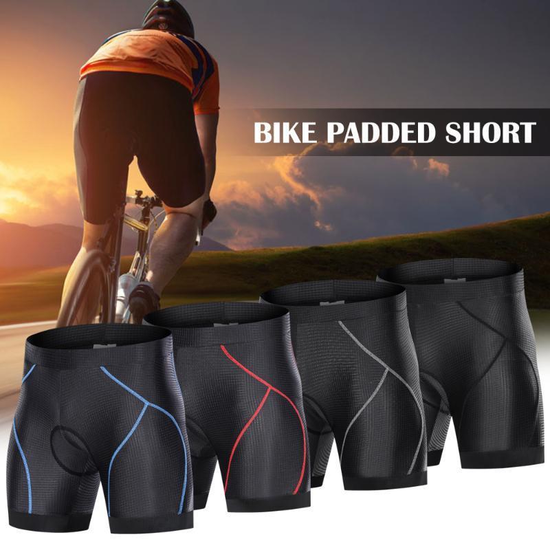 Männer Radhose mit Anti-Rutsch-Legen Grip Radfahren 3D Padded Unterwäsche Fahrrad Padding Riding Shorts Bike-Unterwäsche
