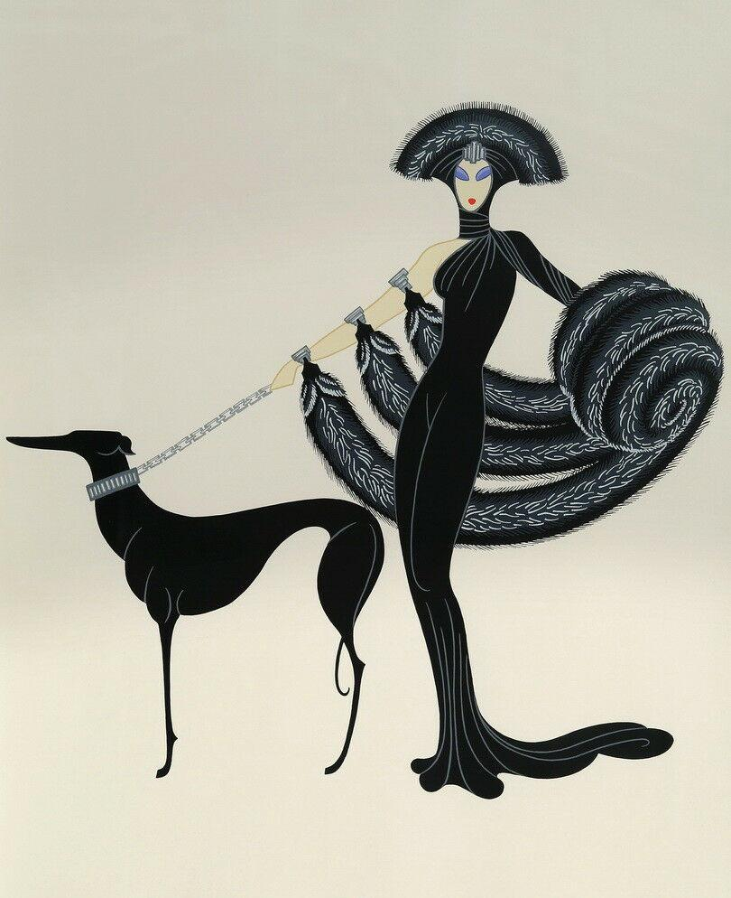 Erte Untitled giclée arte della pittura a olio della decorazione della casa Artigianato / HD Stampa pittura su tela di canapa di arte della parete della tela di canapa Immagini 200718