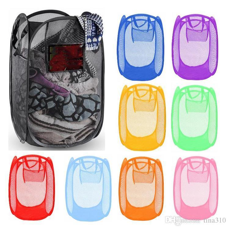 تزود طوي شبكة الغسيل سلة الملابس تخزين تصل غسل الملابس سلة الغسيل بن تعوق شبكة التخزين حقيبة 120PCS T1I1807