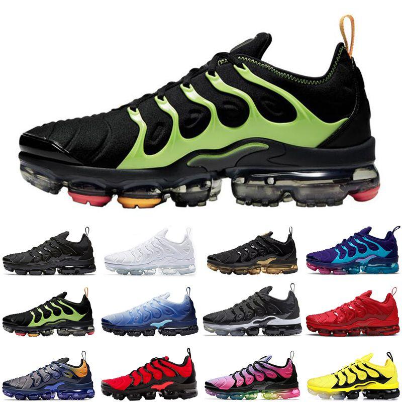 koşu ayakkabıları 2020 Yeni maksimum hava buharı tn artı erkekler kadınlar üçlü siyah gerçek günbatımı gökkuşağı erkek olmak eğitmenler spor ayakkabısı rayları womens