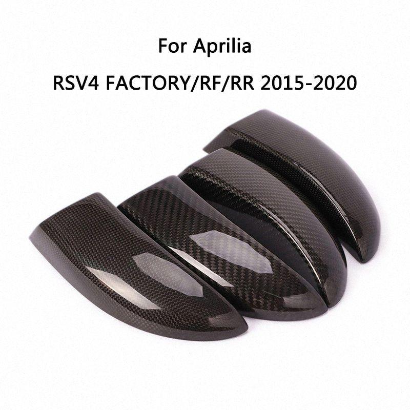 Frein avant Disque air de refroidissement pour 2015-2020 Aprilia RSV4 FACTORY / RF / RR de moto en fibre de carbone Disques de frein Guards Radiateur de N °