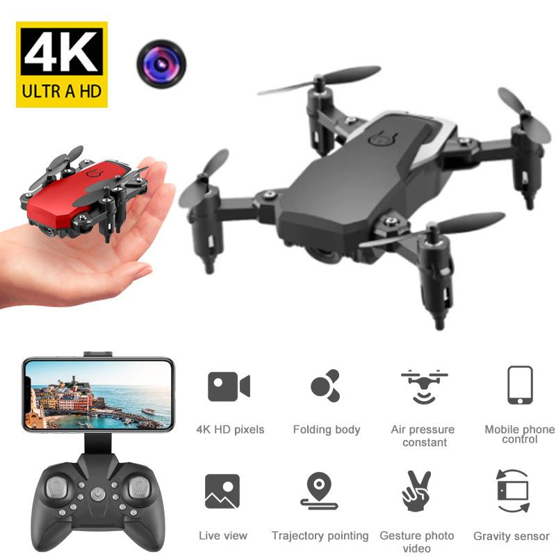 LF606 Wifi FPV RC Drone Quadcopter 4K HD With 2.0MP Camera 360 Degree Rotating Mini Portable Folding Outdoor Flying Aircrafts Boy Toy Gift