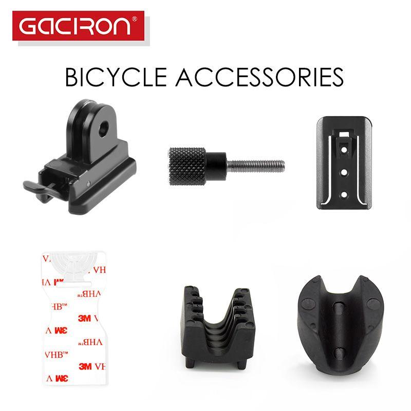 GACIRON Universal Acessórios da bicicleta Bicicleta Luz HandleBar Mount Road Ciclismo de luz Buckle bicicleta base da lâmpada acessórios