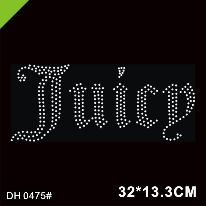 Free shipping China Factory Custom Rhinestone Transfer, Rhinestone Motif, Iron On Transfer DH0475#