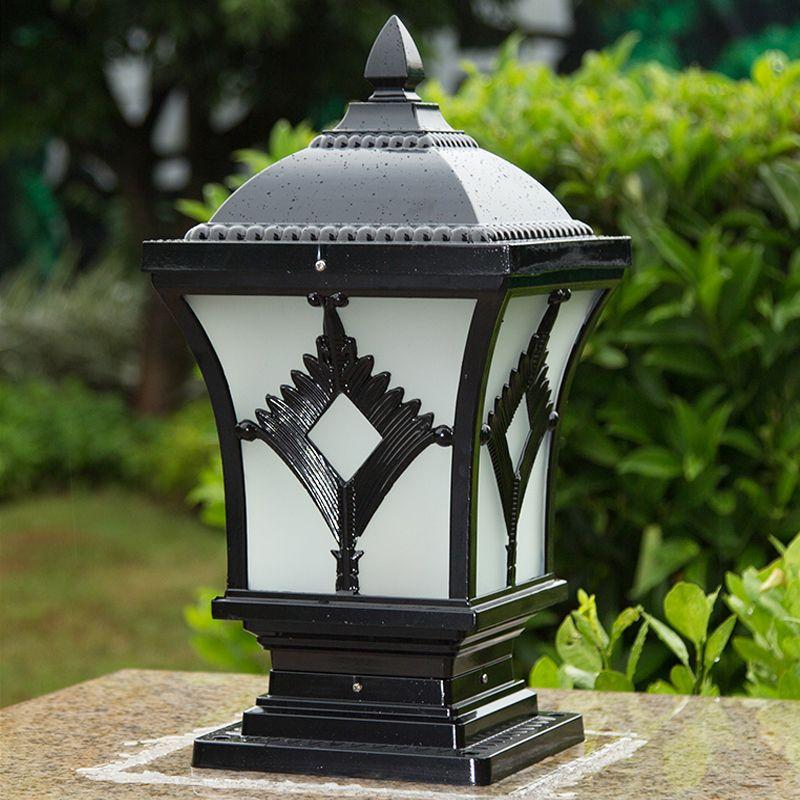 Открытый пост лампы для виллы отель ворота сад пейзажа бронзового черного столба фонарь света арматура европейских классических роскошных привели настенные светильники