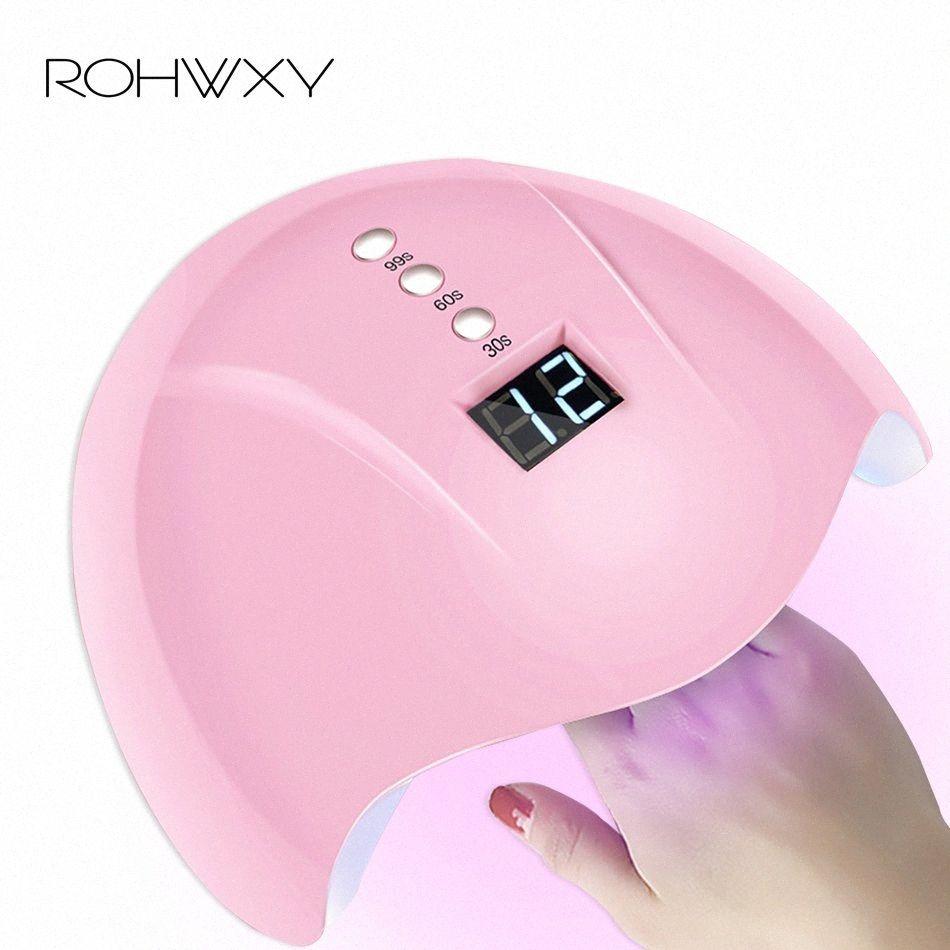 ROHWXY 36W del secador del clavo LED UV de la lámpara del clavo por botón Herramientas de curado del gel de la manicura del polaco luz de la máquina temporizador Arte sensor kFvw #