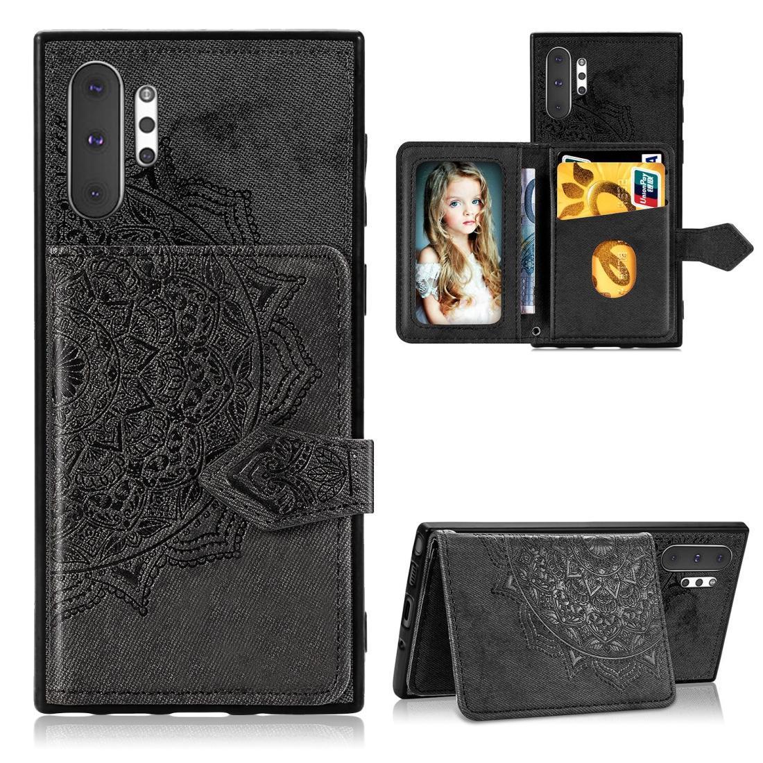 Para Galaxy Note 10 Pro Mandala Embossed Caixa do telefone do pano Card Case móvel com a função magnética e Suporte com cartão bolsa / carteira / Foto