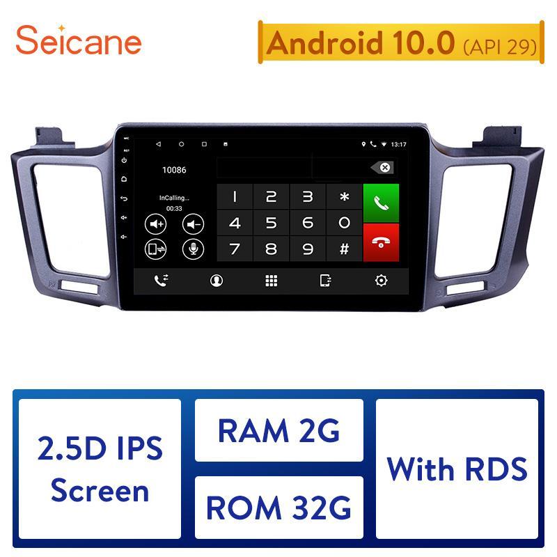Seicane 10.1 inch Android 10.0 2GB RAM Car Stereo Radio Head Unit GPS Navi for Toyota RAV4 4 5 XA40 XA50 2013 2014 2015-2018