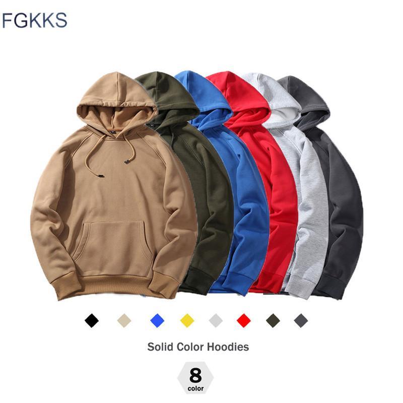 FGKKS nuovo modo di autunno con cappuccio maschio caldo pile cappotto CX200723 Size con cappuccio da uomo marca cappuccio Felpe UE