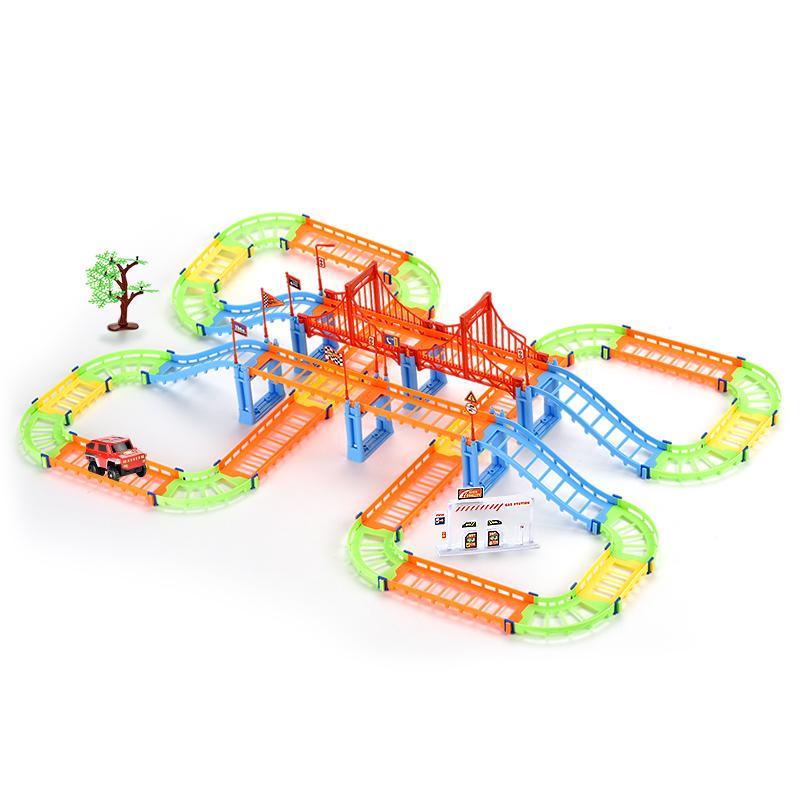 Diy costruzione blocchi elettrici RALL auto per bambini giocattoli in anticipo di formazione creativa edificio blocchi di assemblaggio del modello per il regalo L'intelligenza dei capretti 02