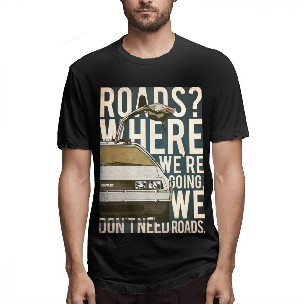 Nueva Regreso al futuro camiseta Regreso al futuro camiseta para el hombre Geek personalizada para el hombre 100% algodón camiseta Streetwear