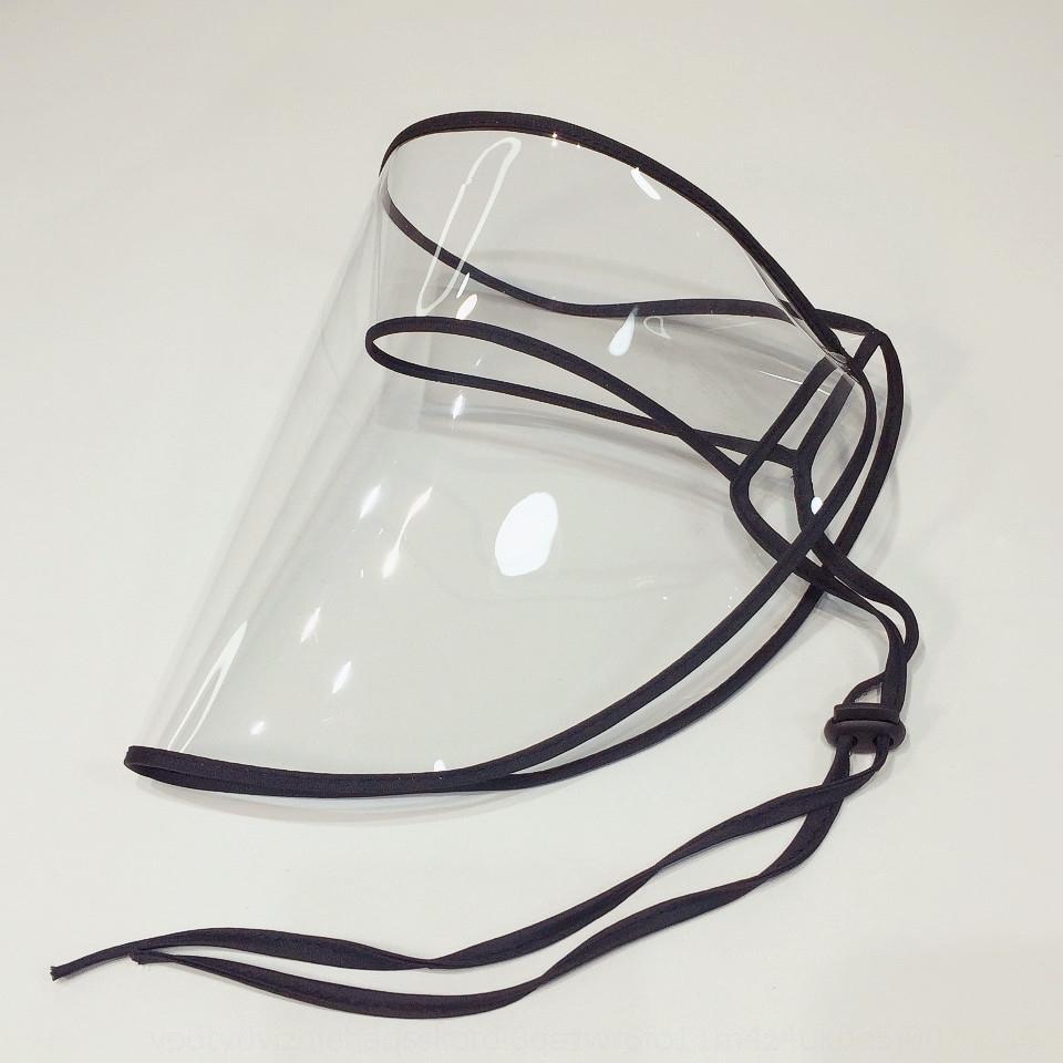 YkizO windundurchlässiger Sand Isolation Eimer Eimer Maske Hut Fischer Fischer Hut staubdichte transparente Maske für Jungs und Mädchen Epidemie preven
