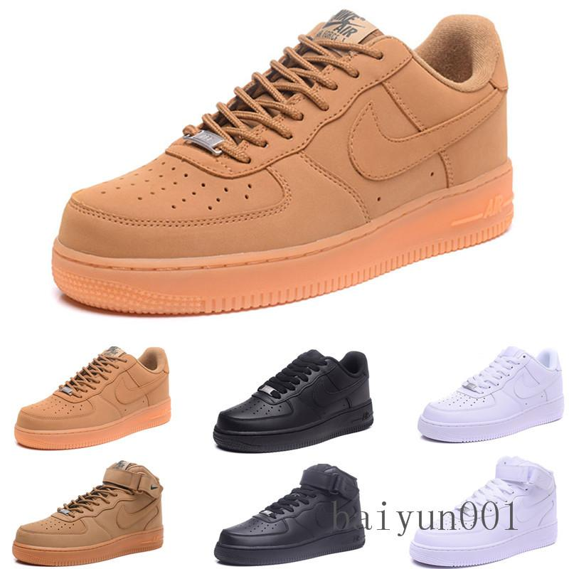 2020 fashion CORK dunk men's women 1 casual shoes high and low cut all white black brown Runing shoes size 36-46 T-6FR