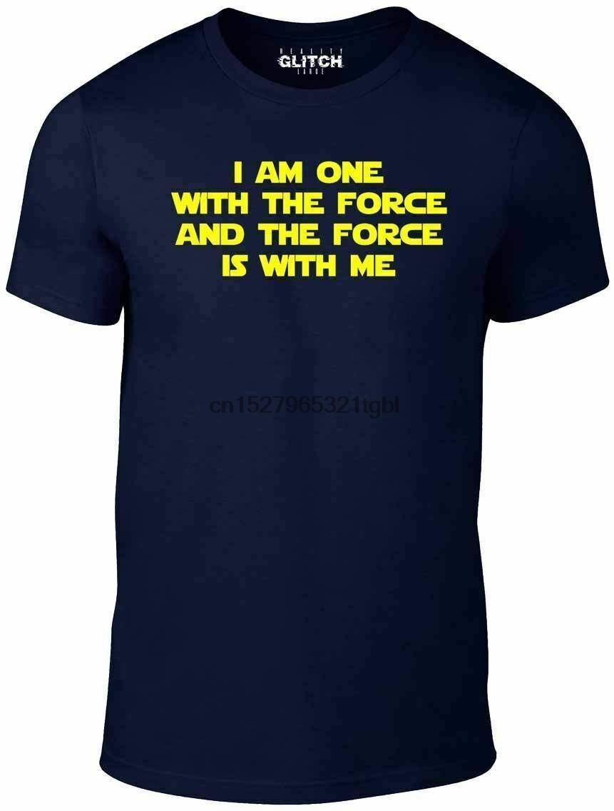Я один с Force T Shirt Смешные майка звезда Sci Fi ретро войны империи ТВ