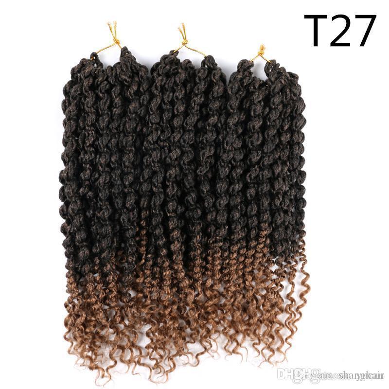 14 дюймов Весна Twist волос Pre-Twisted Синтетические плетение волос 75г / шт Пушистый весна бомба вязания волос расширения для черных женщин