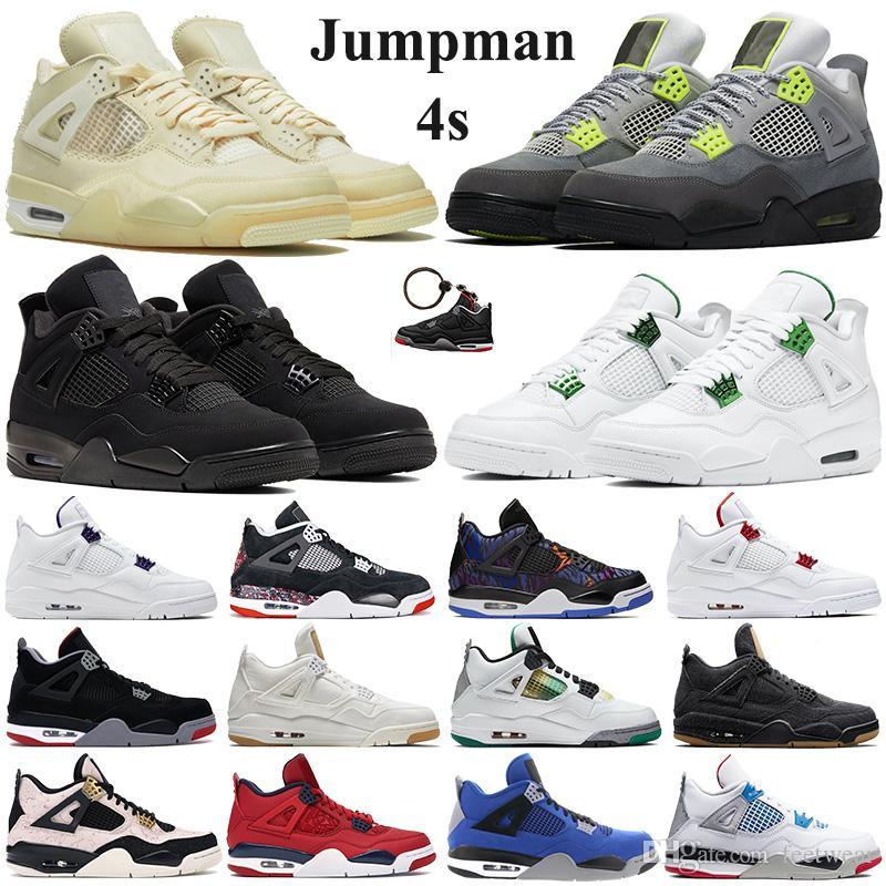 4 4s Hommes Chaussures de basketball Thunder Pure Money 4 4 Athlétique Cool Grey Vol Nostalgie Militaire Bleu Créateurs de sport Sneakers