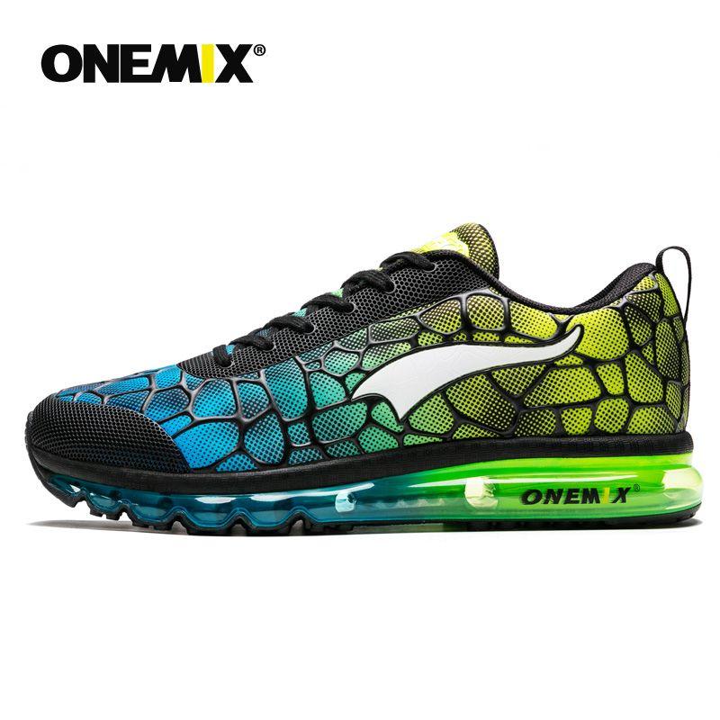 Onemix 2021 Nueva llegada Hombres y moda Cojín de aire Zapatos casuales Diseño de alta calidad Capacitación de jogging Zapatos deportivos al aire libre Malla de las mujeres