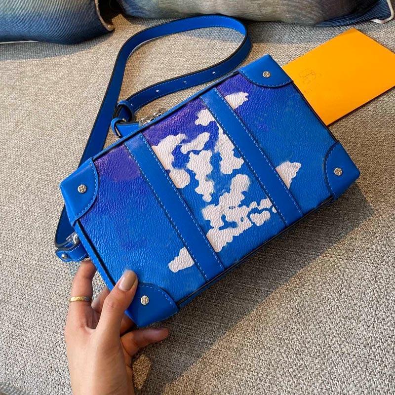En Yeni yumuşak gövde çanta cebi fermuarlı çanta kadın kemer omuz çantaları çiçek baskı mektup çanta bayanlar suitacase tasarım çanta taşımak