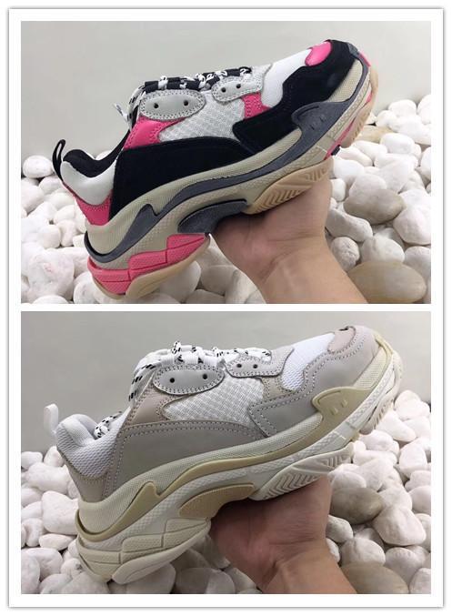 DESIGNER DAD Sapatilhas Old multi Luxo Triplo S Designer Baixa New Arrival Sneaker Combinação Soles botas das mulheres dos homens Sapatas de passeio c100