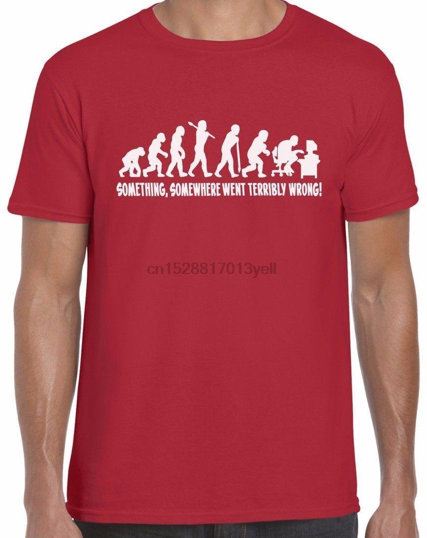 2020 Unisex Estilo Em algum lugar Somethin foi terrìvel Wron P Eek Nerd Verão T T-shirt A camisa dos homens Camiseta Tops T engraçados