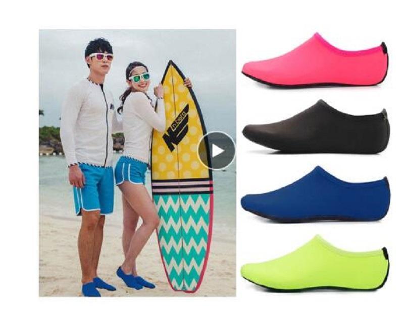 Hommes Femmes Chaussures Eau, Chaussures Natation solide Couleur d'été Aqua Chaussures de plage, Chaussettes Mer pantoufles espadrille pour les hommes, Zapatos hombre
