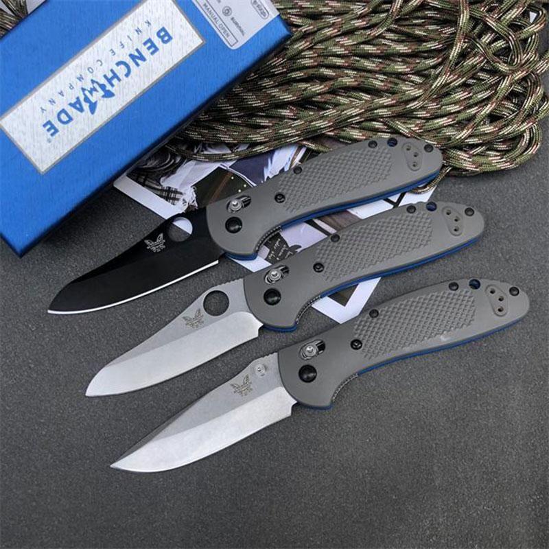 Bench BM550 BM551 D2 Blatt-faltendes Messer Camping Jagd-Überlebensmesser Nylon Glasfaser Griff Kupferscheibe Taschenmesser EDC Außen