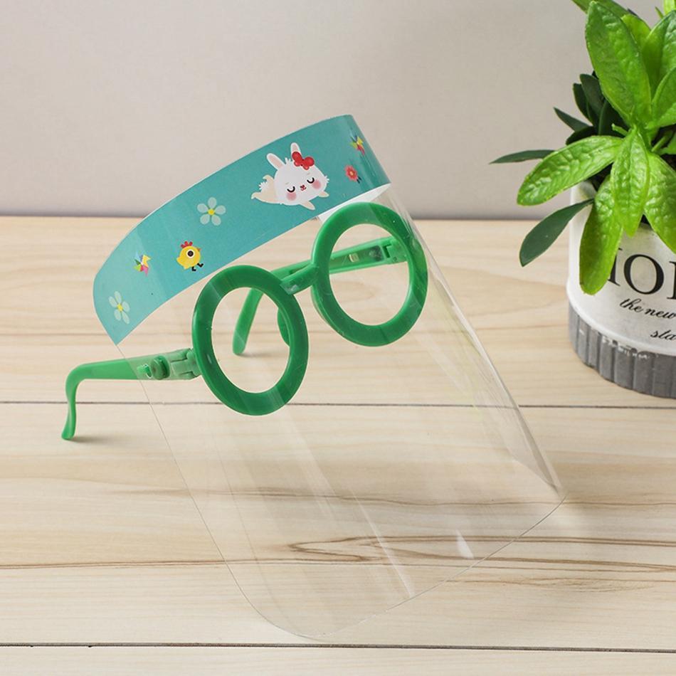 Cara de dibujos animados niño Escudo de Seguridad de aceite a prueba de salpicaduras Niños Cara máscara protectora transparente Aislamiento niños visera tapa de la culata