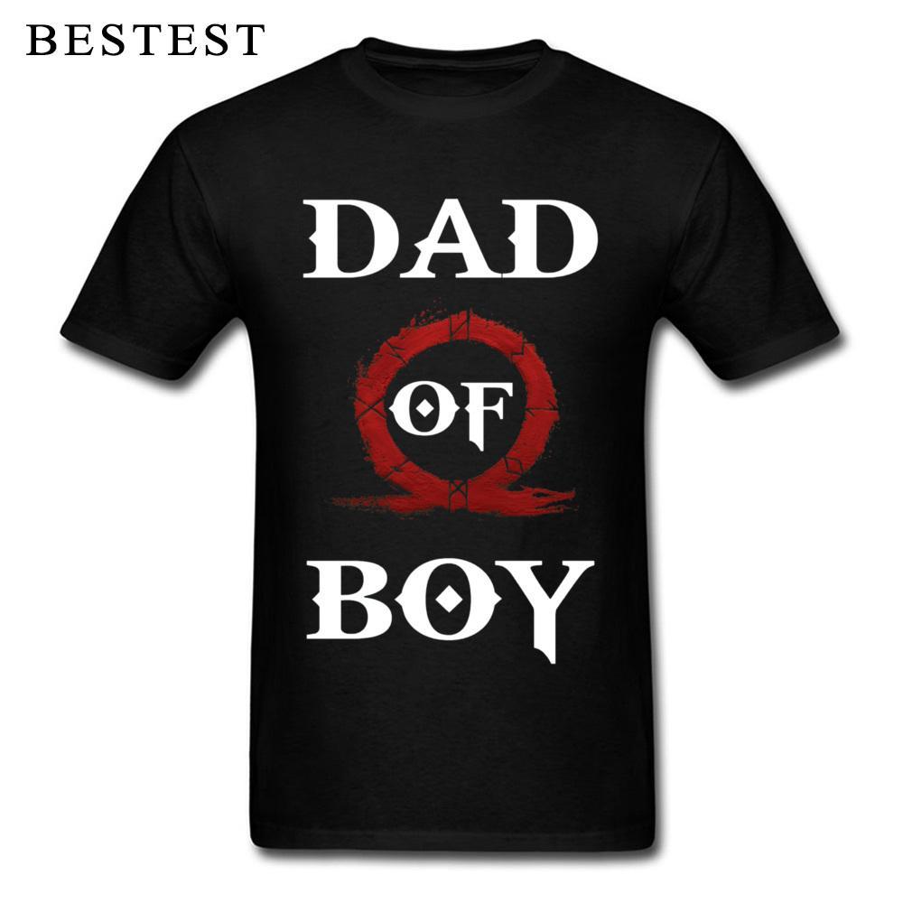 Baba Gündüz Hediye Soğuk Savaş Tshirt Of Boy God Of 2019 Moda Erkekler Tişört Baba Harf Vintage Punk Tees Pamuk Siyah Giyim Tops
