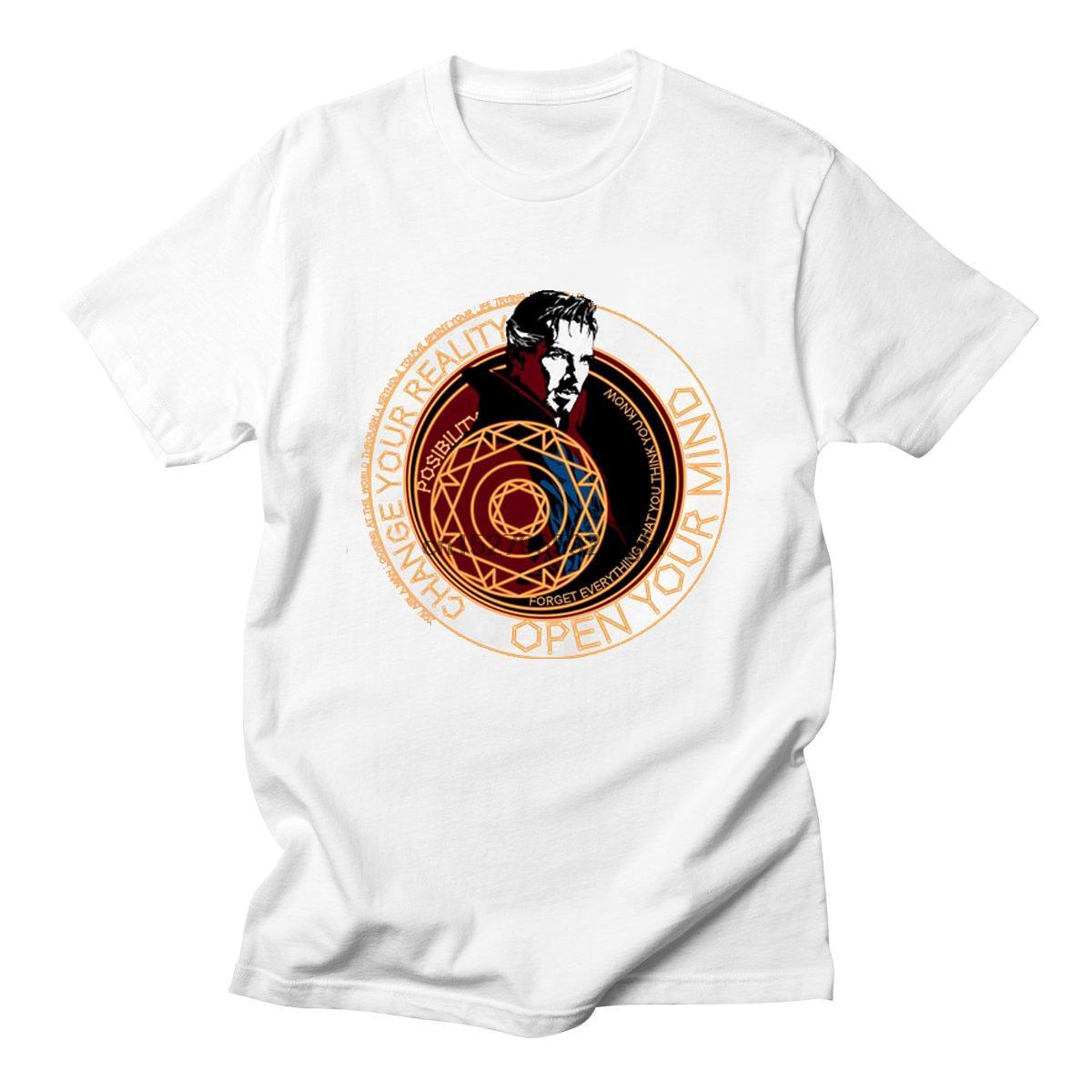 Doutor Estranho Benedict Cumberbatch homens unisex clássico Tees t-shirts Filmes Dr. Estranho Superheroes camisetas Top T