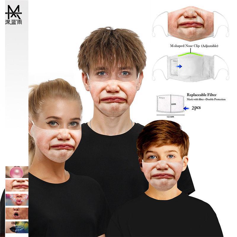 Nouveau visage Masque Masques Sports de plein air crâne Halloween Party cosplay Masques visage réutilisable poussière chaud coupe-vent Coton fête Coton Masque